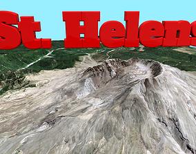 3D asset Mountain St Helens volcano