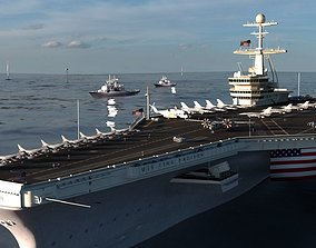 Aircraft Carrier - Nimitz-class nuclear-powered 3D 1