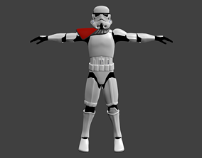 Stormtrooper Commander - Video Game Animation rigged