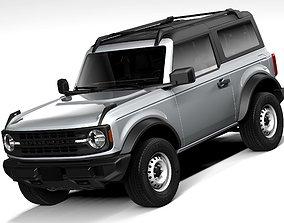 3D model Ford Bronco Base 2door 2021