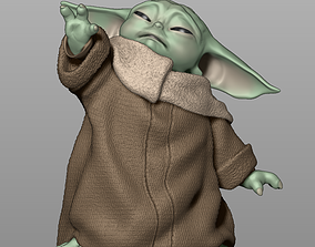 Baby Yoda Using The Force - The Mandalorian 3D print model