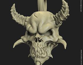 3D printable model Demon skull vol1 pendant