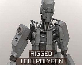 3D asset Robot Hunter Rigged LP