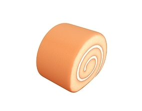 3D asset Cake Roll