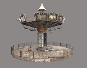 3D model Abandoned Swing Ride-Carousel
