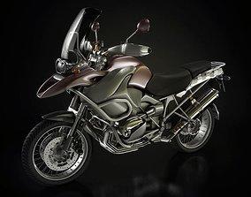 3D Black Motorbike