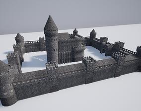 Medieval castle gothic 3D model