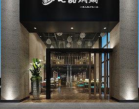 dinner architecture 3D Model modern restaurant