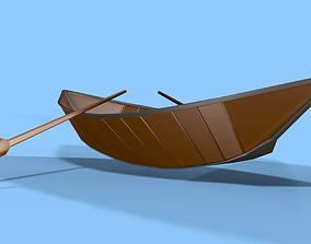 3D asset Boat Low Poly