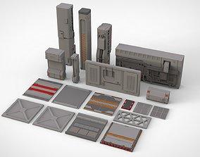sci-fi Architecture kitbash 24 3D model