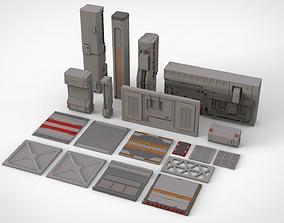 sci-fi Architectural element 16 3D model