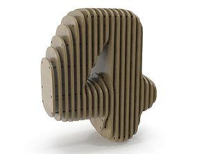 Wood symbol 4 3D model