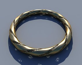 Bangle bracelet 3D print model fashion