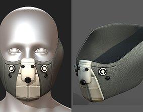 3D model Gas mask helmet scifi fantasy armor 2