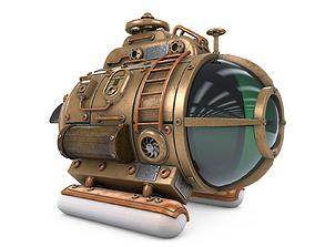 3D Steampunk Submarine