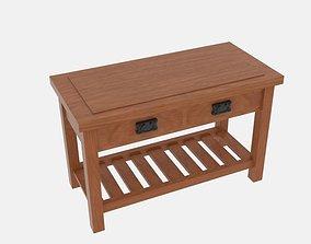 3D asset Rustic Storage Table