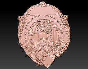 3D print model factory Badge Factory Building City