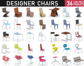 3D model low-poly Chairs Collection Vol 6