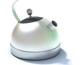 Stainless Steel Teapot 3D