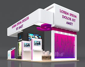Exhibition Stand Booth Stall 8x5m Height 500cm 4 Side 3D