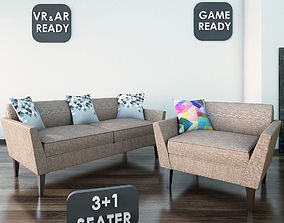 Sofa02 VR AR Game Ready 3D asset