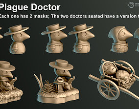 Plague Doctor 3D printable model dark