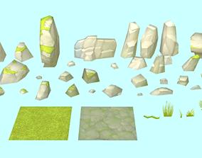 Rocks and stones 3D asset