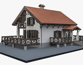 3D model Alpine House Flat