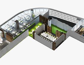 cabinet 3D Modern Office Interior