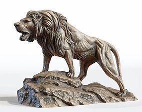 Lion Sculpture PBR Lowpoly 3D model realtime