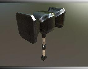 3D asset Low-Poly Textured Hammer