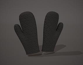 Black Oven Glove 3D asset