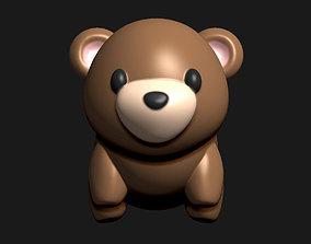 creature Teddy bear tiny figurine for 3D printing