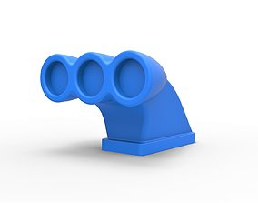3D print model Diecast Air intake 2 Scale 1 to 25