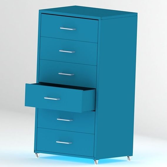 Metal cabinet with draw
