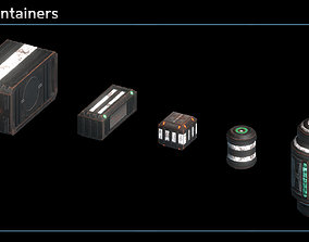 Scifi Containers 3D asset