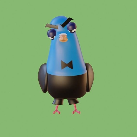 Spies And Disguise Pigeon form model