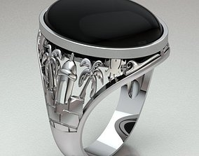 3D print model diamond Ring Man