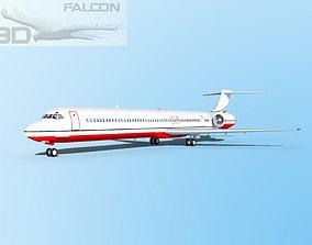 rigged Falcon3D MD-80 Corporate 4