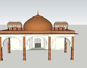 animated game-ready indian jodhpuri stone arch 3d modal