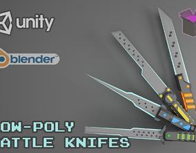 3D asset Stylized Battle Knifes Pack