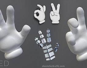 Cartoon Hand Riged 3D model rigged