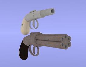 3D asset Allen guns