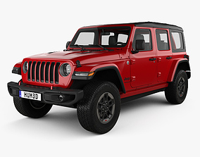 Jeep Wrangler 4-door Rubicon 2018 3D