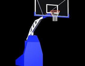 3D model Basketball Backboard Backstop