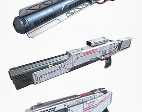 Laser Gun Collection PBR 3D asset