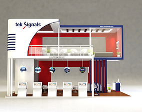 3D model Exhibition Double Deck Stand Booth 63