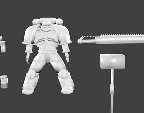 3D model space marine warhammer 40000