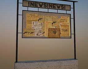 3D asset Newspaper Stand