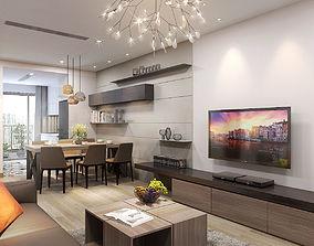 3D model Apartment livingroom modern
